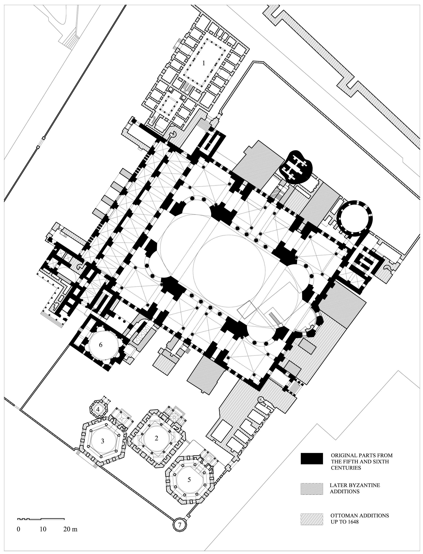 Floor Plan Of Hagia Sophia Archnet How To Plan Hagia Sophia Floor Plans