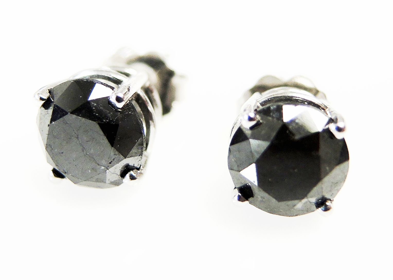 Fall In Love With These Stunning Vintage Black Diamond Stud Earrings At Cynthia Findlay Antiques