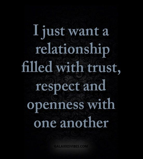 Trust and respect in relationships