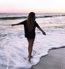 альтернатива, пляж, свобода, девушка, гранж