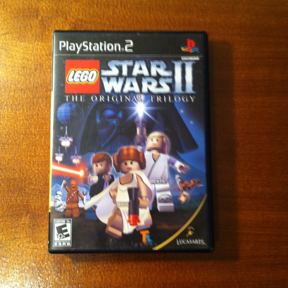 LEGO STAR WARS 2 THE ORIGINAL TRILOGY SONY PLAYSTATION VIDEO GAME DISC PS2