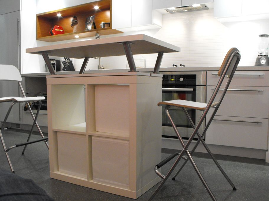Ikea Hack   Expedit Mobile Island   A Crafting Station?