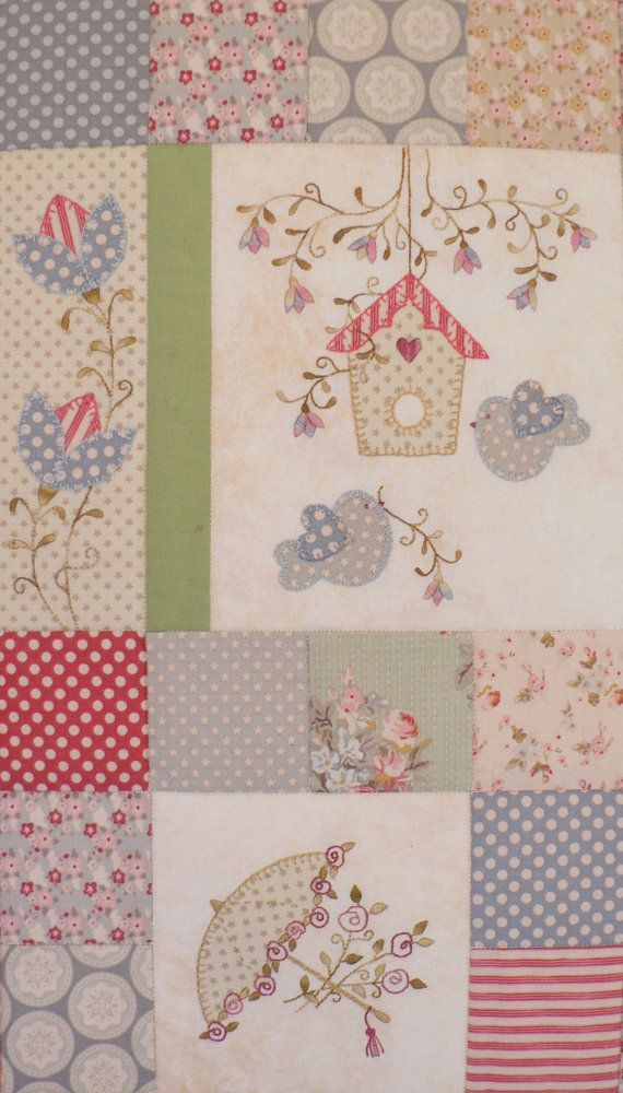 Forget-Me-Not Garden Block of the Month Pattern Set por Teddlywinks ...
