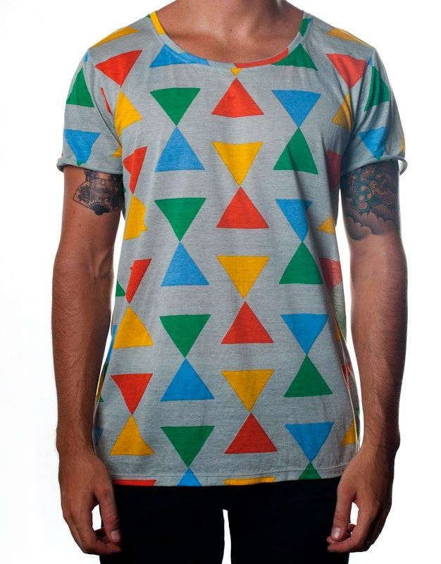 Nemis Clothing Triangle Tee Grey www.nemisclothing.com