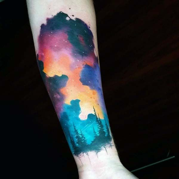 70 Sky Tattoos For Men Atmosphere Design Ideas Sky Tattoos