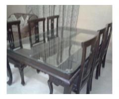 Dining Table With Six Chairs In Good Condition For Sale Multan