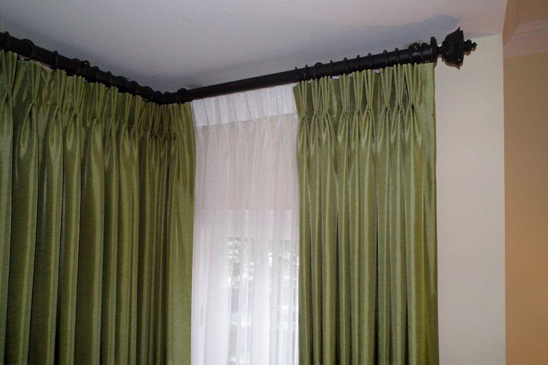 Pin By Luz Ramirez On A Layered Look Ideas Corner Curtain Rod