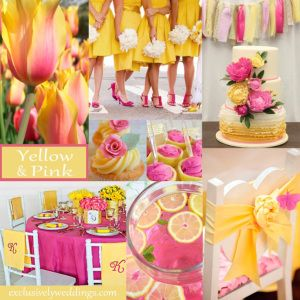 Pink and Yellow Wedding Colors - Bright and Beautiful!