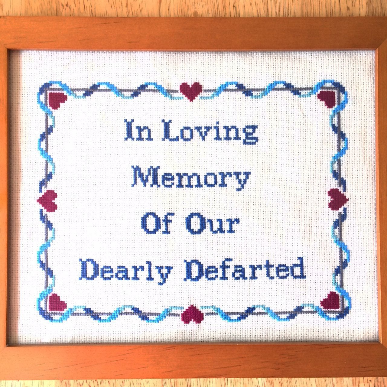 pattern subversive funny bathroom cross stitch in loving memory of, Powerpoint templates