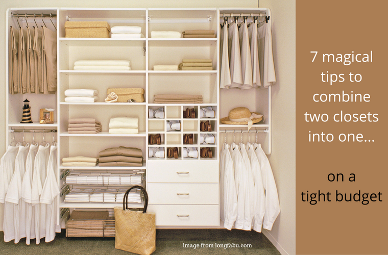 Dressing Fait Maison 7 columbus customized closet tips to combine two closets into one