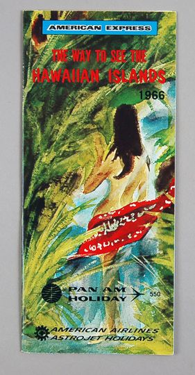 1966  The cover of a brochure issued jointly by Pan Am and American Express.