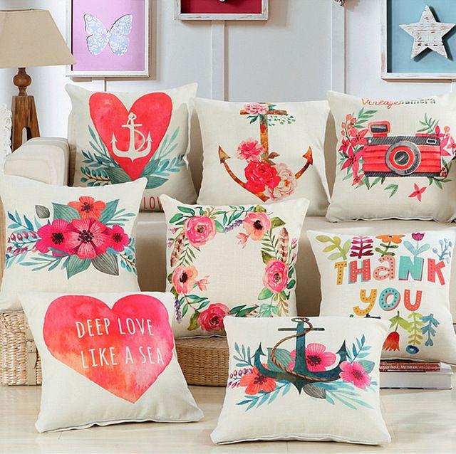 Flores al por mayor de anclaje funda de coj n almohada for Proveedores decoracion hogar