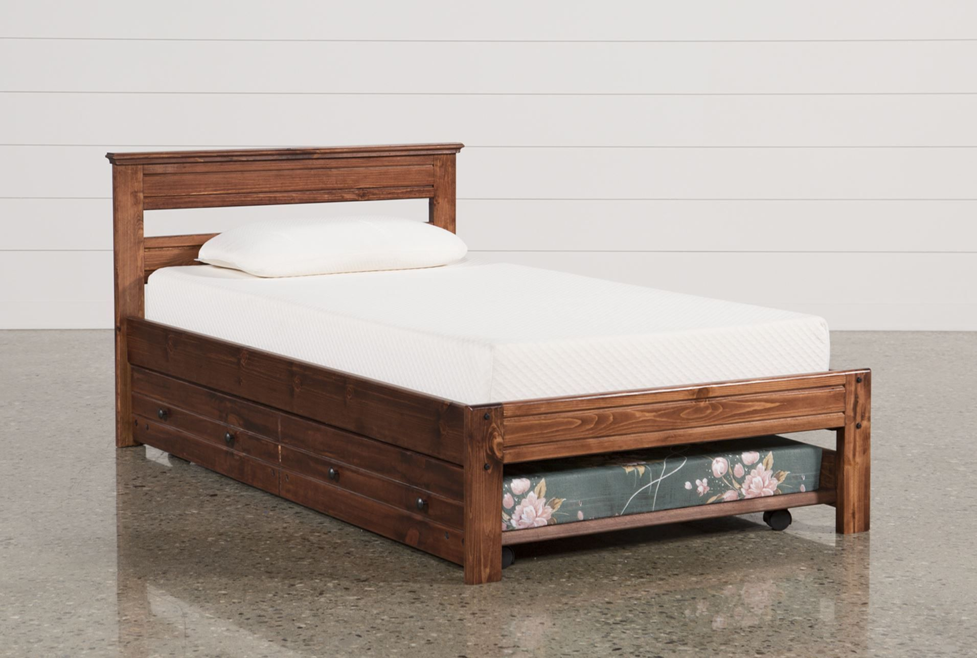 Sedona Twin Platform Bed With Trundle With Mattress Would Love
