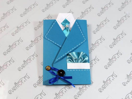 How to DIY Masculine 'Suit and Tie' Greeting Card -