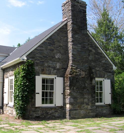 Home Exterior White Shutters And Dark Stone House Exterior Diy Exterior House Shutters Stone Houses