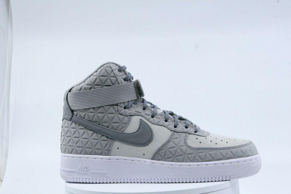 Air 1 10w Women's 845065 001 Nike Force Gray Suede High Premium L35jR4A