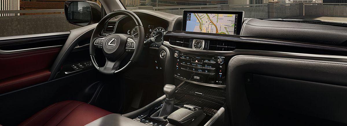 The 2018 Lexus LX Cabernet Red Interior