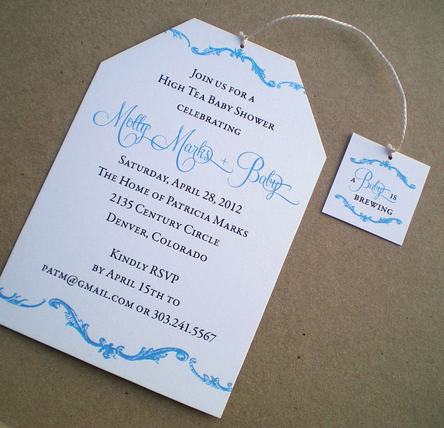 High Tea Baby Shower Invitation