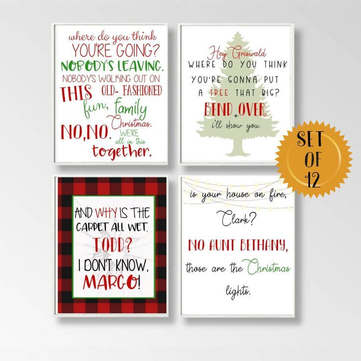 Set Of 12 5X7 Griswold Quote Gift, Fun Old Fashioned