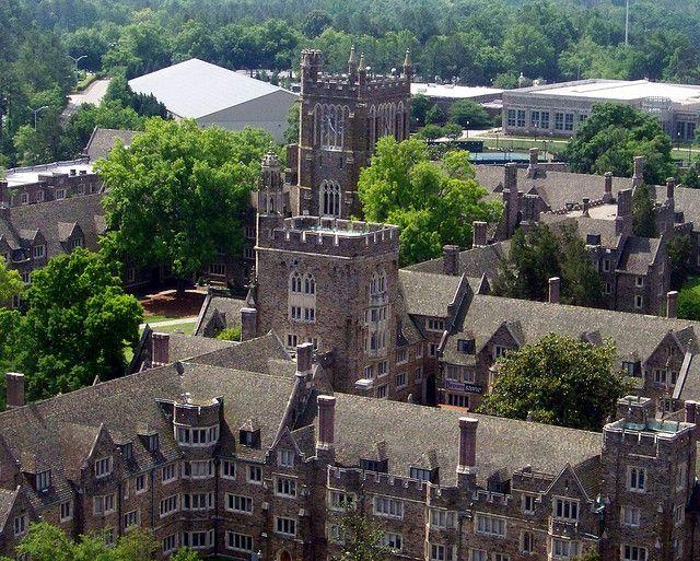 West Campus Quads From Atop Duke Chapel Duke University Campus
