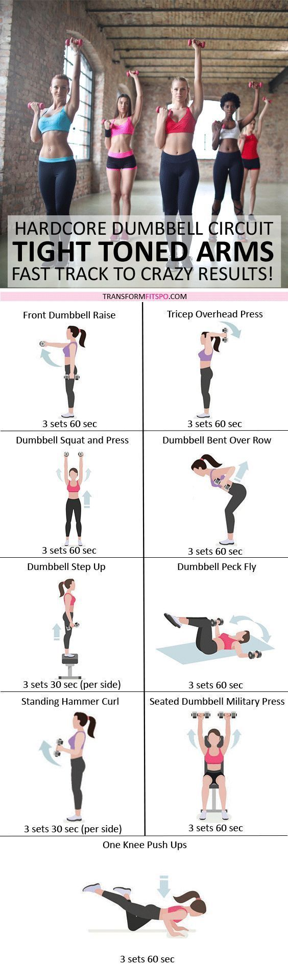 Tone And Tighten Your Arms Dumbbell Progressive Circuit To Get Chest Back Superset Workout Womensworkout Femalefitness Share Repin If This Helped