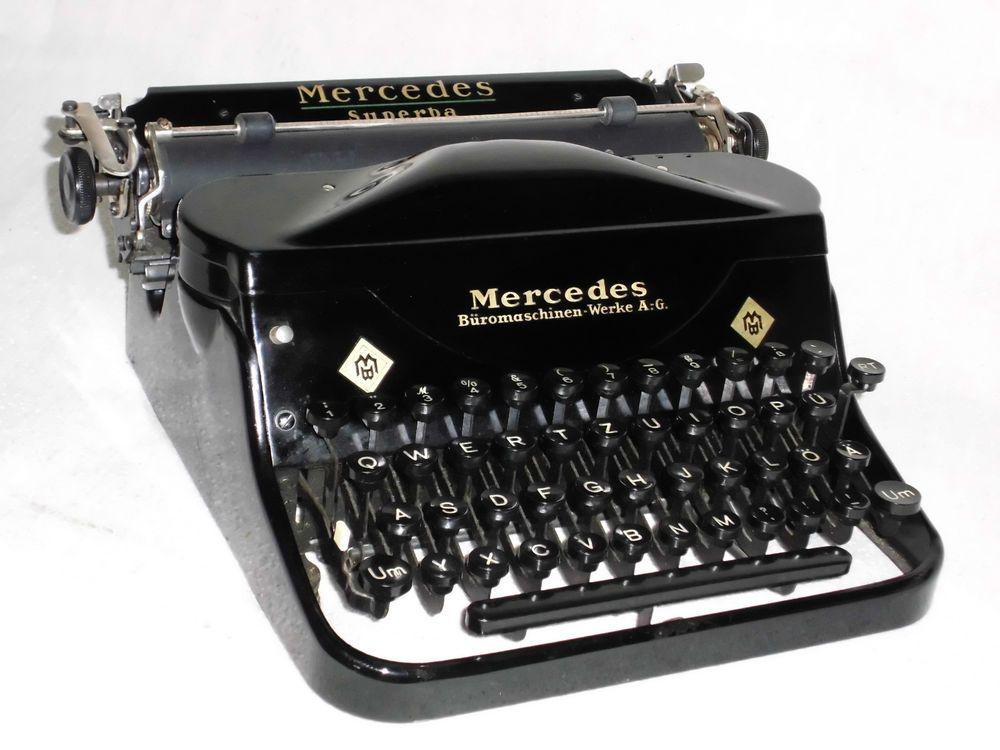 Mechanische Schreibmaschine Mercedes Superba mechanical typewriter