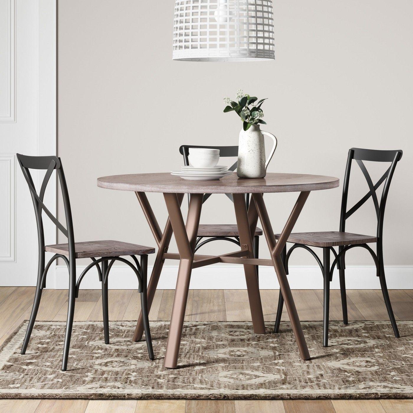 42 farmhouse dining table round black