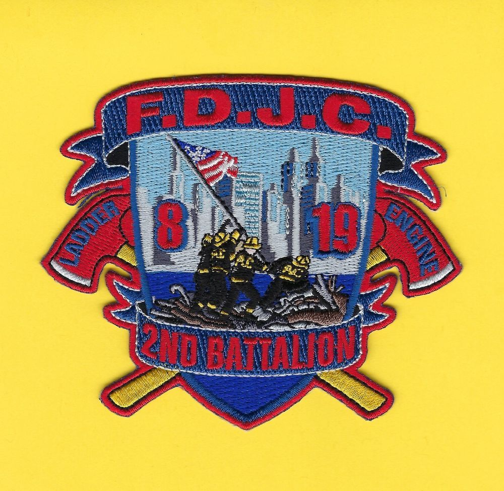 JERSEY CITY FIRE DEPARTMENT ENGINE 19//LADDER 8//2ND BATTALION COMPANY PATCH
