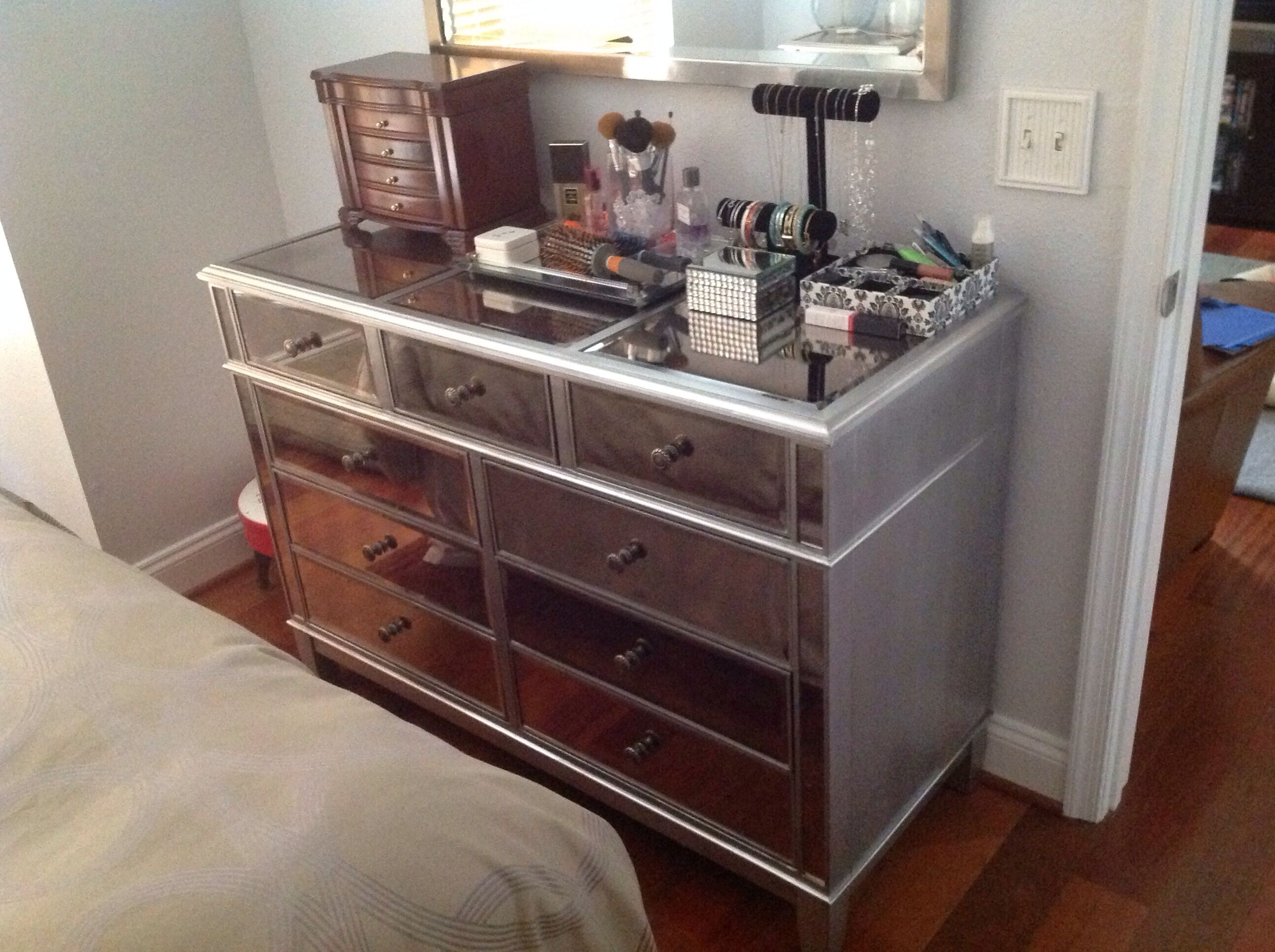 My New Mirrored Dresser Hayworth Collection Dresser With Mirror Rustic Home Offices Bedroom Accessories