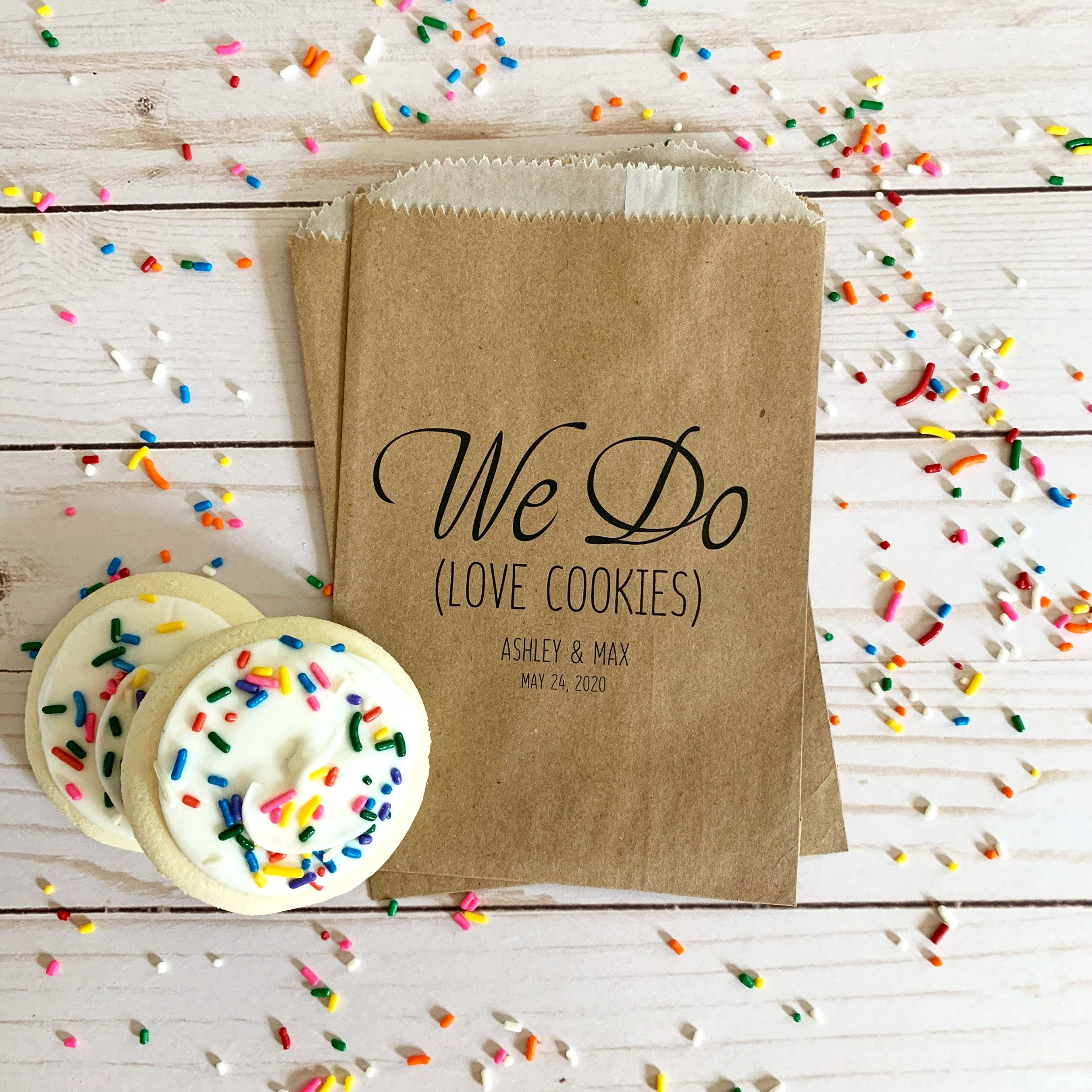 Lined Wedding Cookie Bags Wedding Favor Cookie Bags For Etsy In 2020 Cookie Wedding Favors Wedding Cookies Bags Wedding Cookies