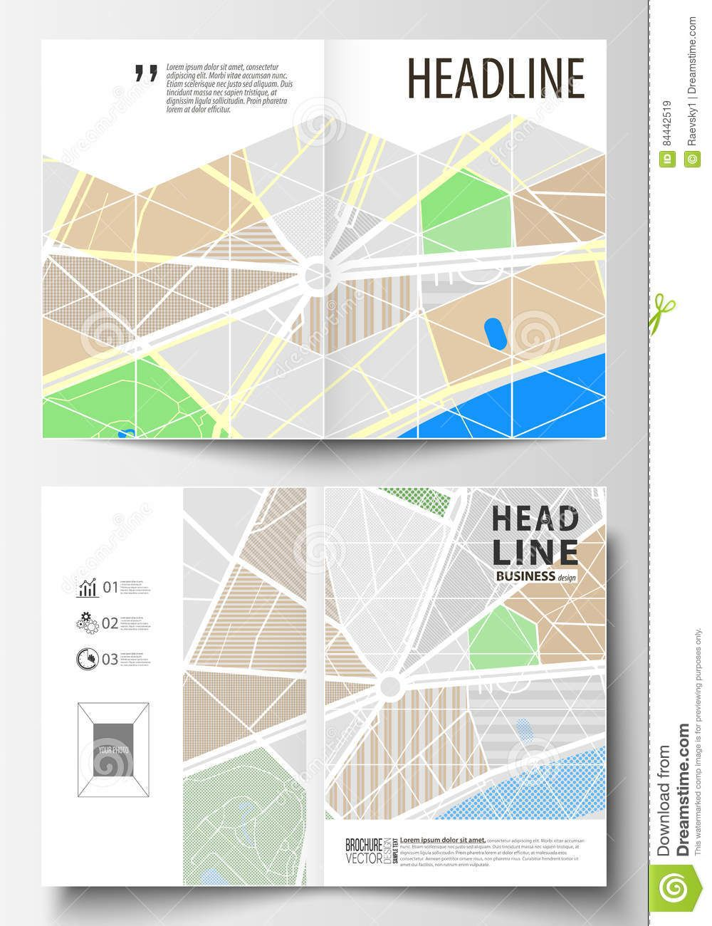 Business Templates For Bi Fold Brochure Magazine Flyer Or Intended For Blank City Map Template Bi Fold Brochure Business Template Brochure Design Template