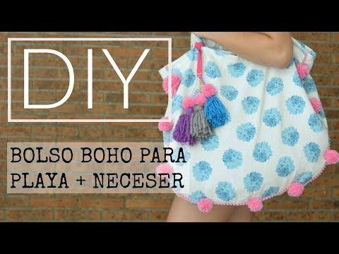 DIY BOLSO PLAYA ESTILO BOHO + NECESER  Lorena Gil