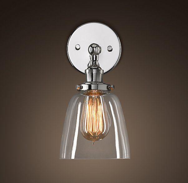 Decisions Decisions Bathroom Lights 20th C Factory Filament