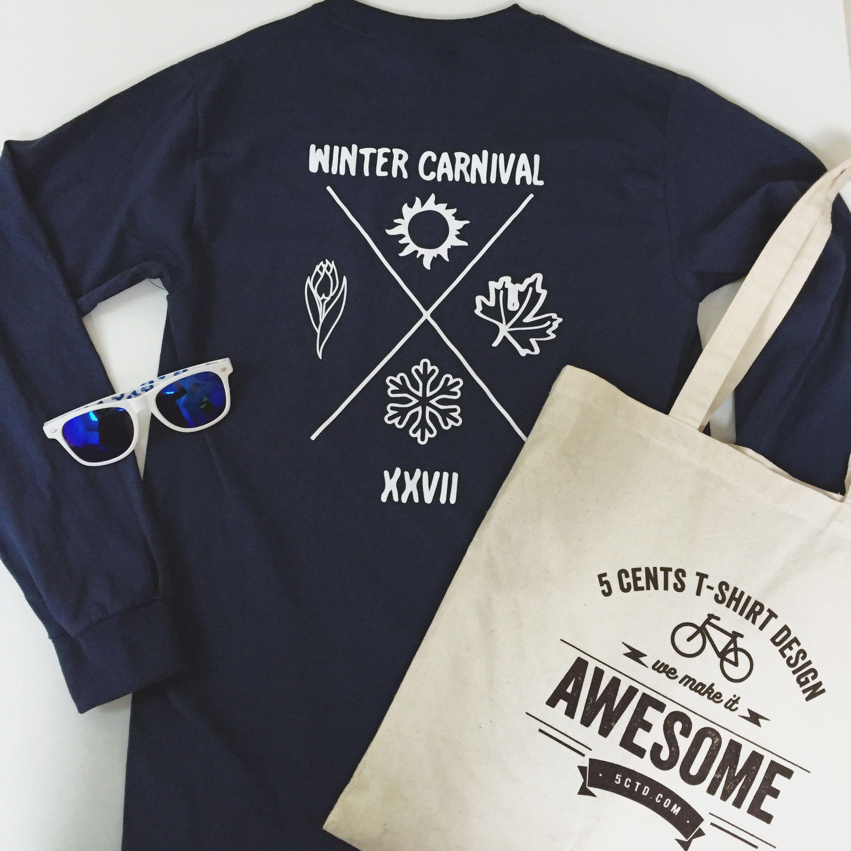 Winter Carnival custom t-shirt design idea. Custom Tote bag ...