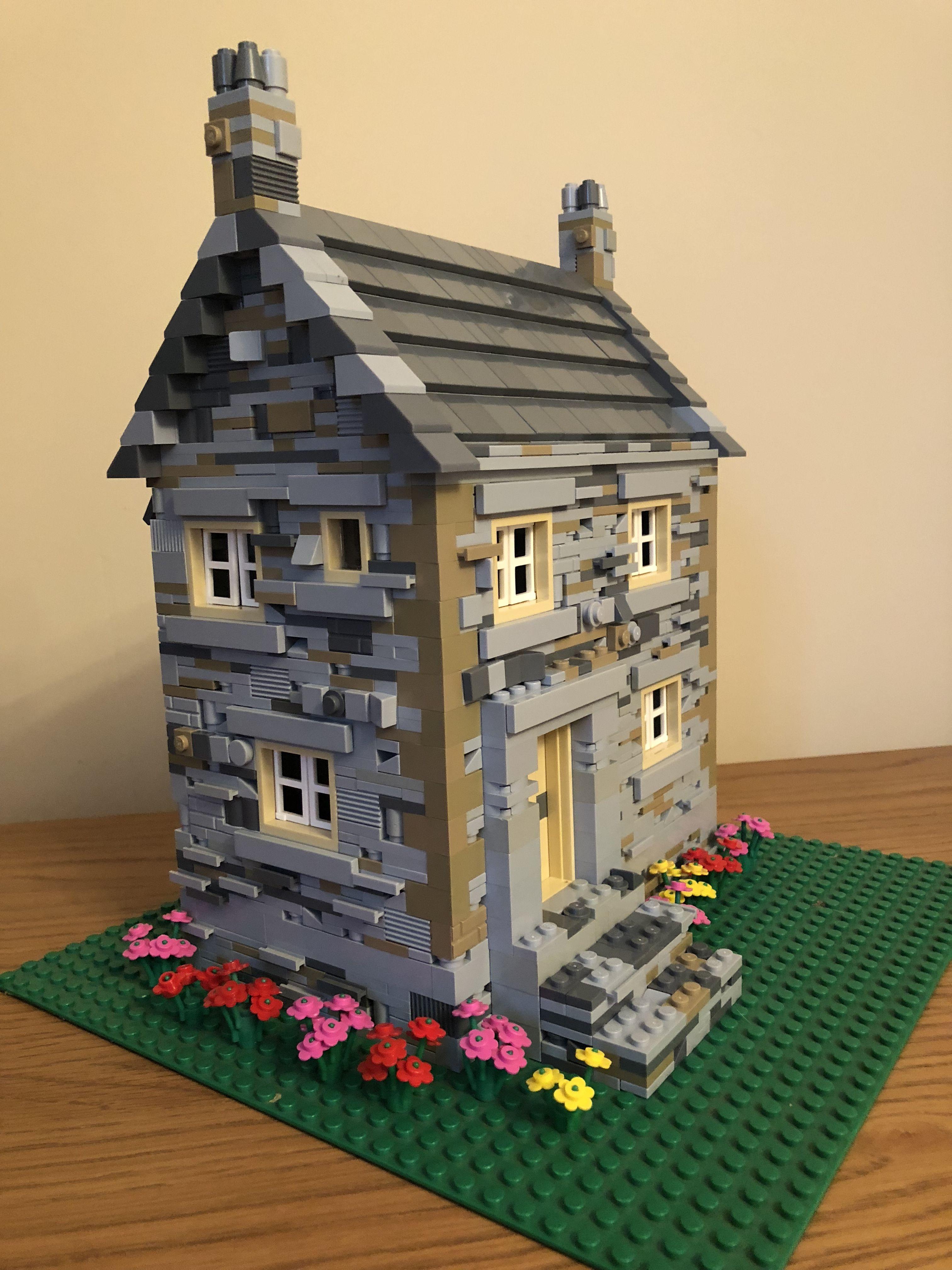 Wange World Architecture Corner Shop Building 2332 piece compatible blocks model