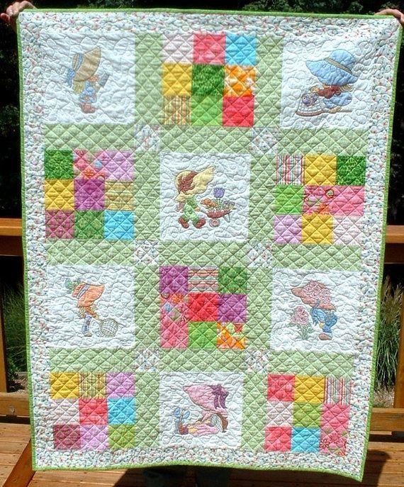 Sun Bonnet Sue Hand Painted quilt | Quilts - Sunbonnet Sue ... : sunbonnet sue quilt blocks - Adamdwight.com