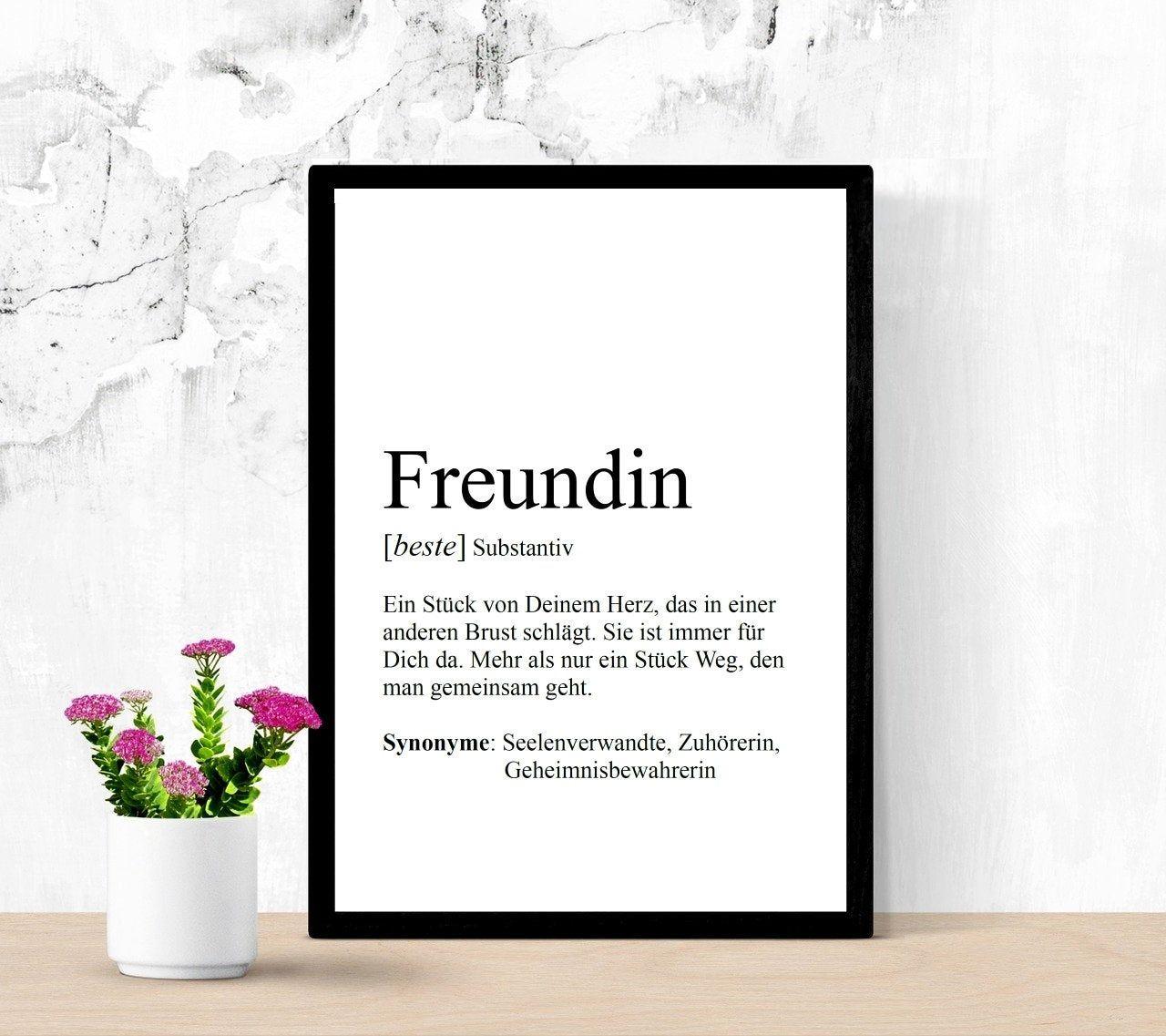 Bild FREUNDIN, Definition,personalisierbar, Print, Geschenk