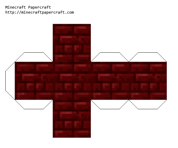 Papercraft Red Nether Brick