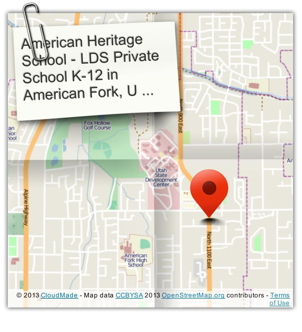 One of the best Private LDS Schools K-12 in UT http://www.american-heritage.org/