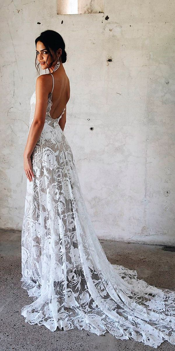 30 Bohemian Wedding Dress Ideas You Are Looking For   Wedding bride ...