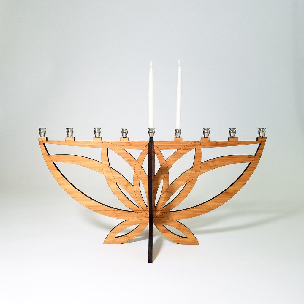 Lotus flower menorah u moderntribe festive witch pinterest menorah
