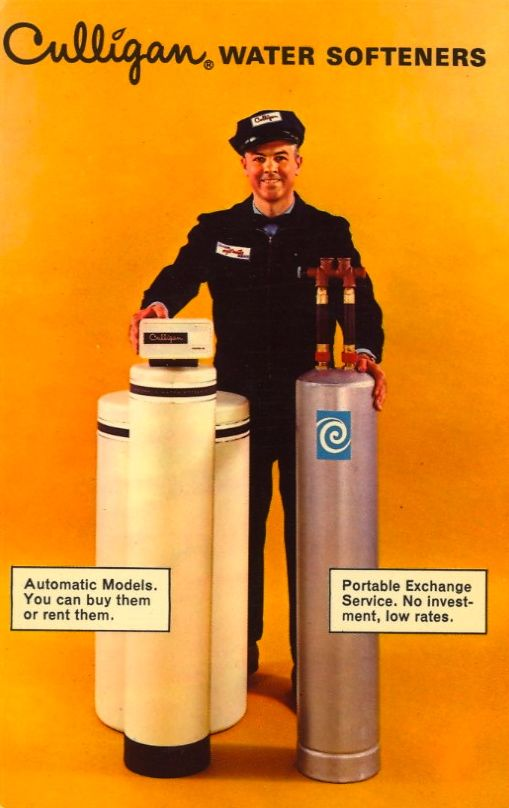 Hey Culligan Man Now You Can Enjoy All The Benefits Of Pure Filtered Soft Water On The Basis Which Most Perfectly Suits Your Fam Culligan Postcard Vintage Ads