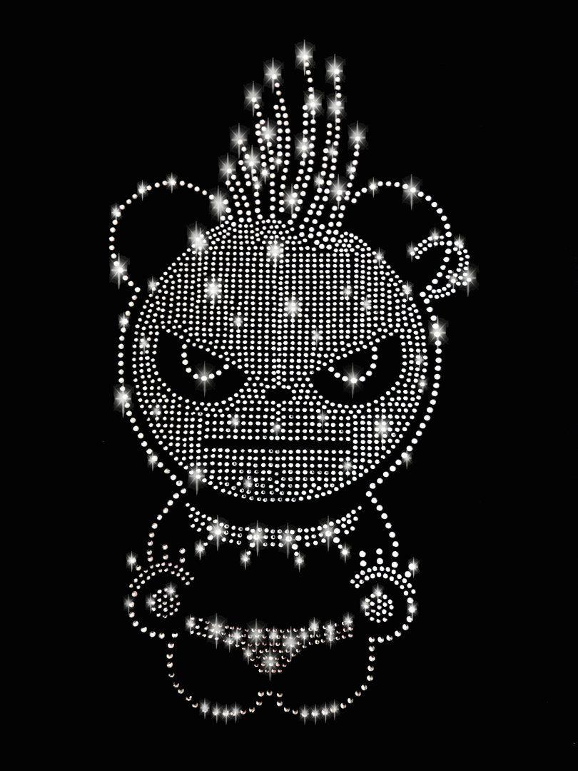 Xl Panda Strass Bugelbild 2 Hotfix Applikation Bugelbilder Emoji Hintergrund Applikationen