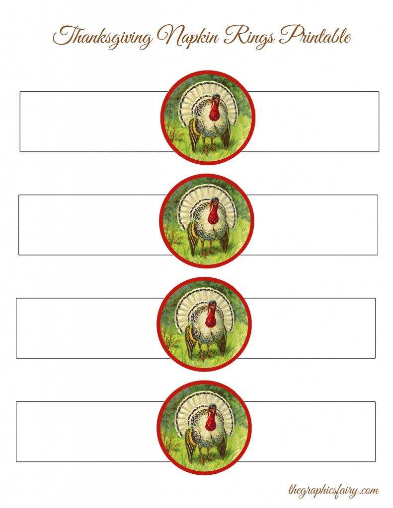 photograph about Printable Napkin Rings Template known as Thanksgiving Turkey Napkin Rings Template Do it yourself Tips