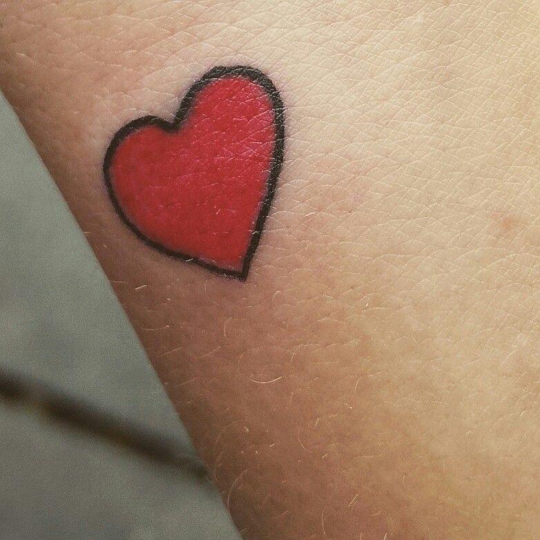 Small Wrist Tattoo Red Heart Red Heart Tattoos Heart Tattoo