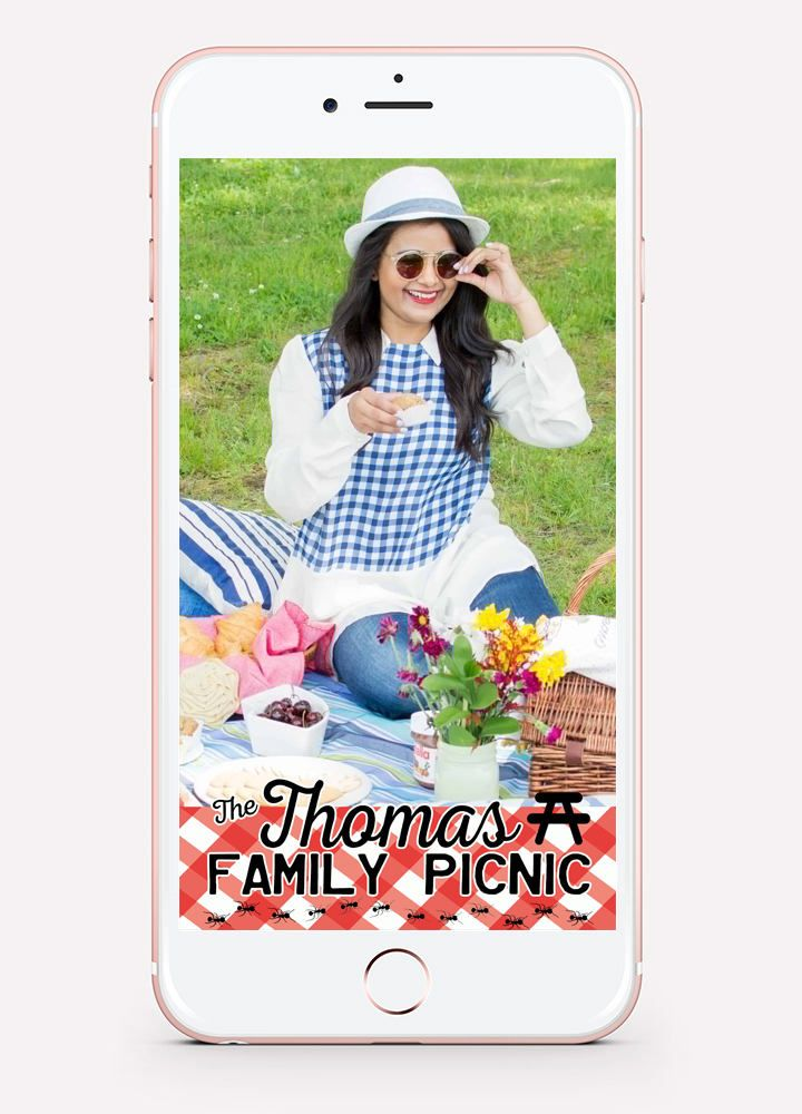 24 HOUR Custom PICNIC Snapchat GEOFILTER Filter ~ Family Reunion - copy blueprint events snapchat