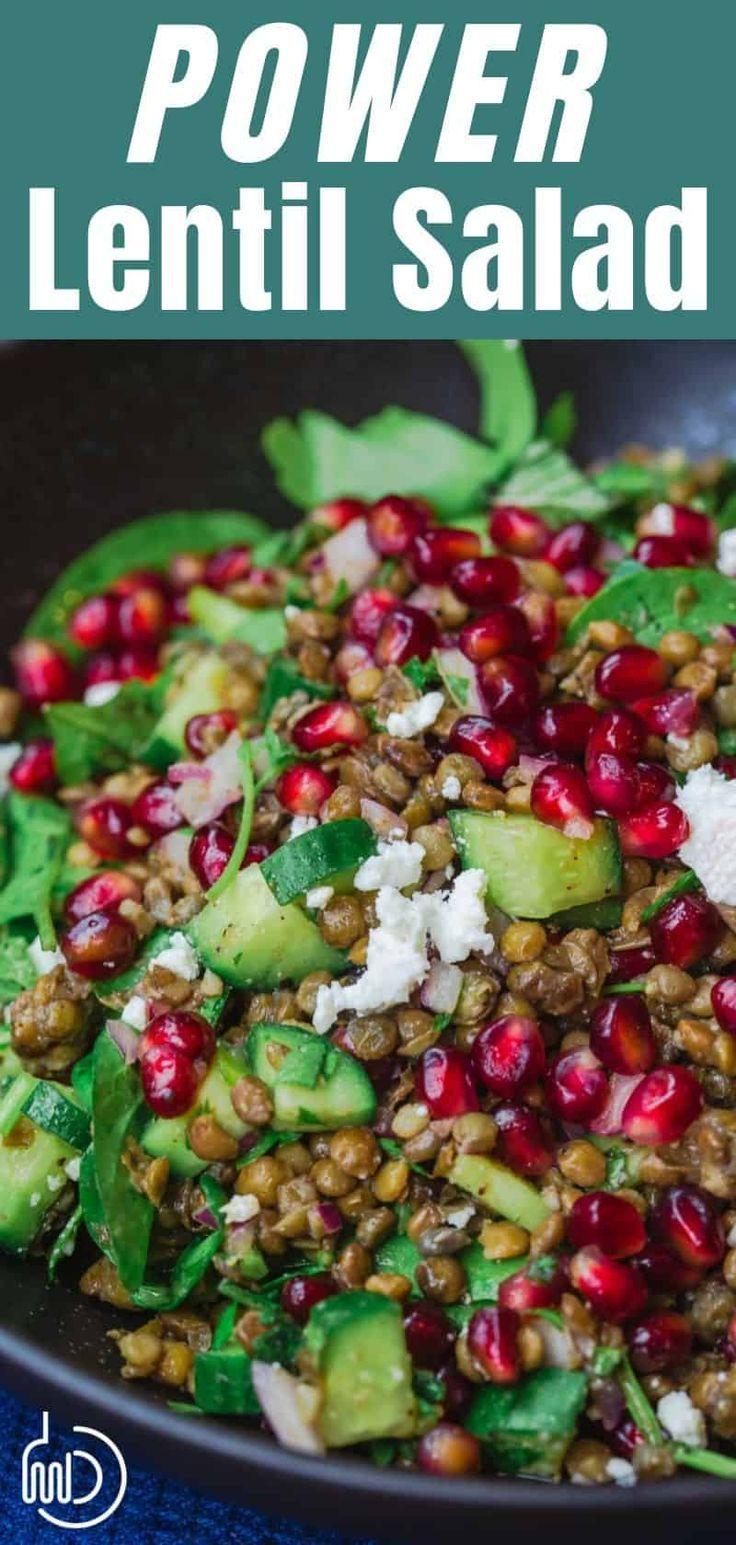 Mediterranean Power Lentil Salad