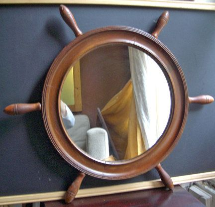 Vintage Ship Wheel Mirror By Banglespark On Etsy New House