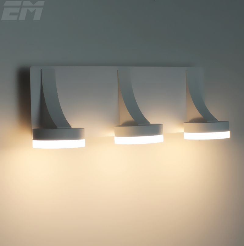 Brief design bathroom mirror light 311110100mm aluminum acrylic 3 heads 9w fashional