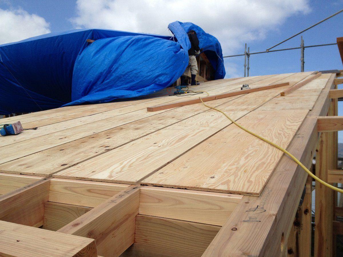 天井仕上げを兼ねた野地板 構造用合板 張り 構造用合板 小屋 合板